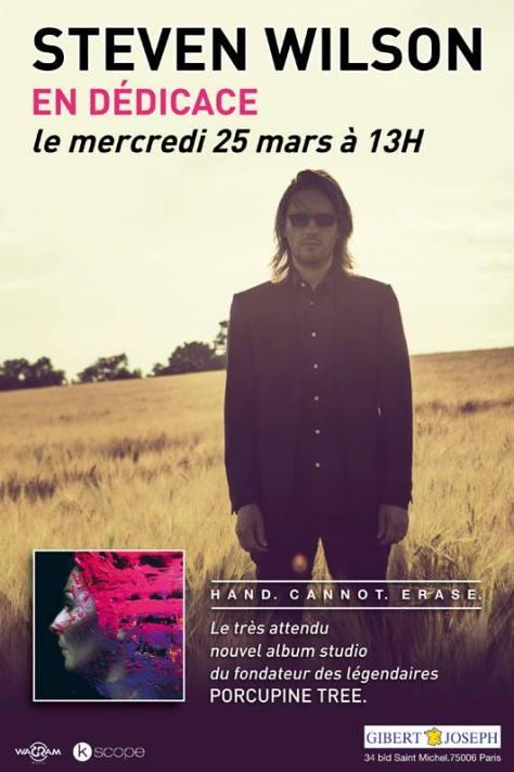steven-wilson-dédicace-gibert-25-mars-2015