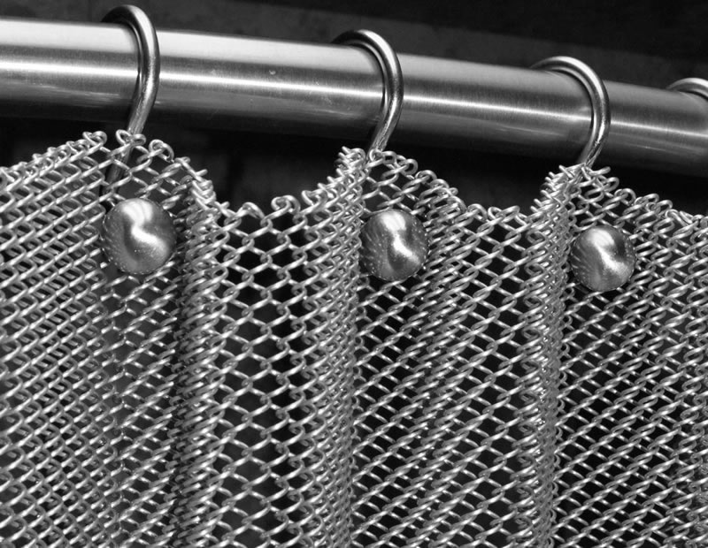 Brass Mesh Coil Curtain Has High Rust Fire And Mildew Resistance