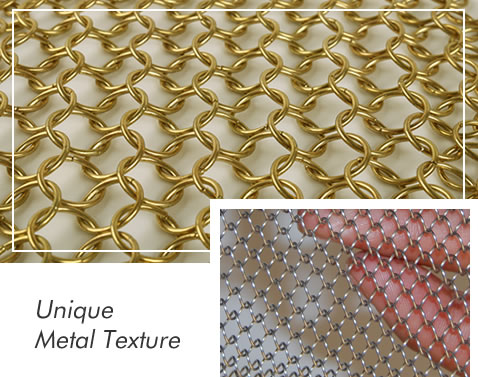 metal mesh curtain for room divider and