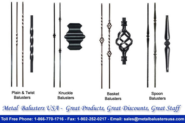 Metal Balusters Usa For Basket Knuckle Spoon Twist Forged Iron | Iron Balusters Home Depot | Railing Kit | Ole Iron | Staircase Remodel | Oil Rubbed Copper Vein | Baluster Railing