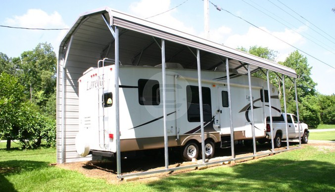 12x36 RV Cover Metal Barn Central