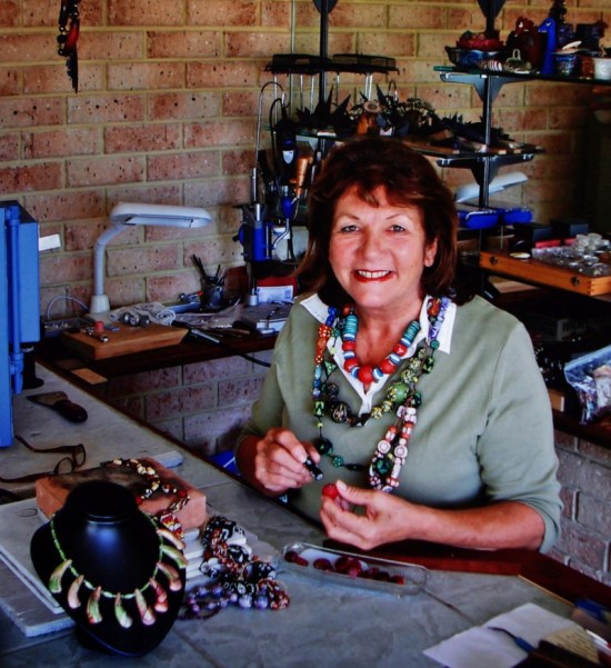 Artist Pamela Annesley in the Metal Clay Art Studio