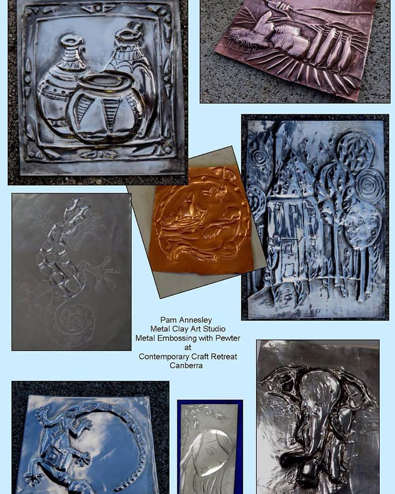Metal Embossing with Pewter - Comtemporary Craft Retreat 2015