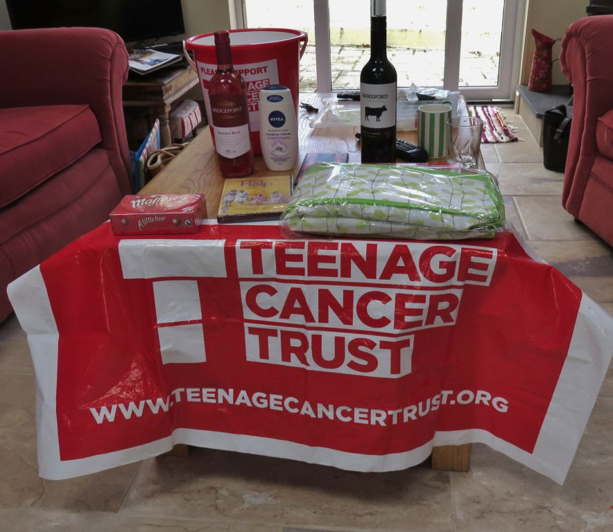 Raffle Donations for the Teenage Cancer Trust Fundraising workshops