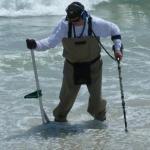 metal detecting on beach
