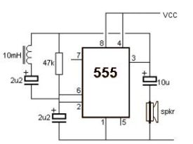 how to make metal detector using 555 ic hd video
