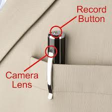 Tiny surveillance camera hidden in a pen
