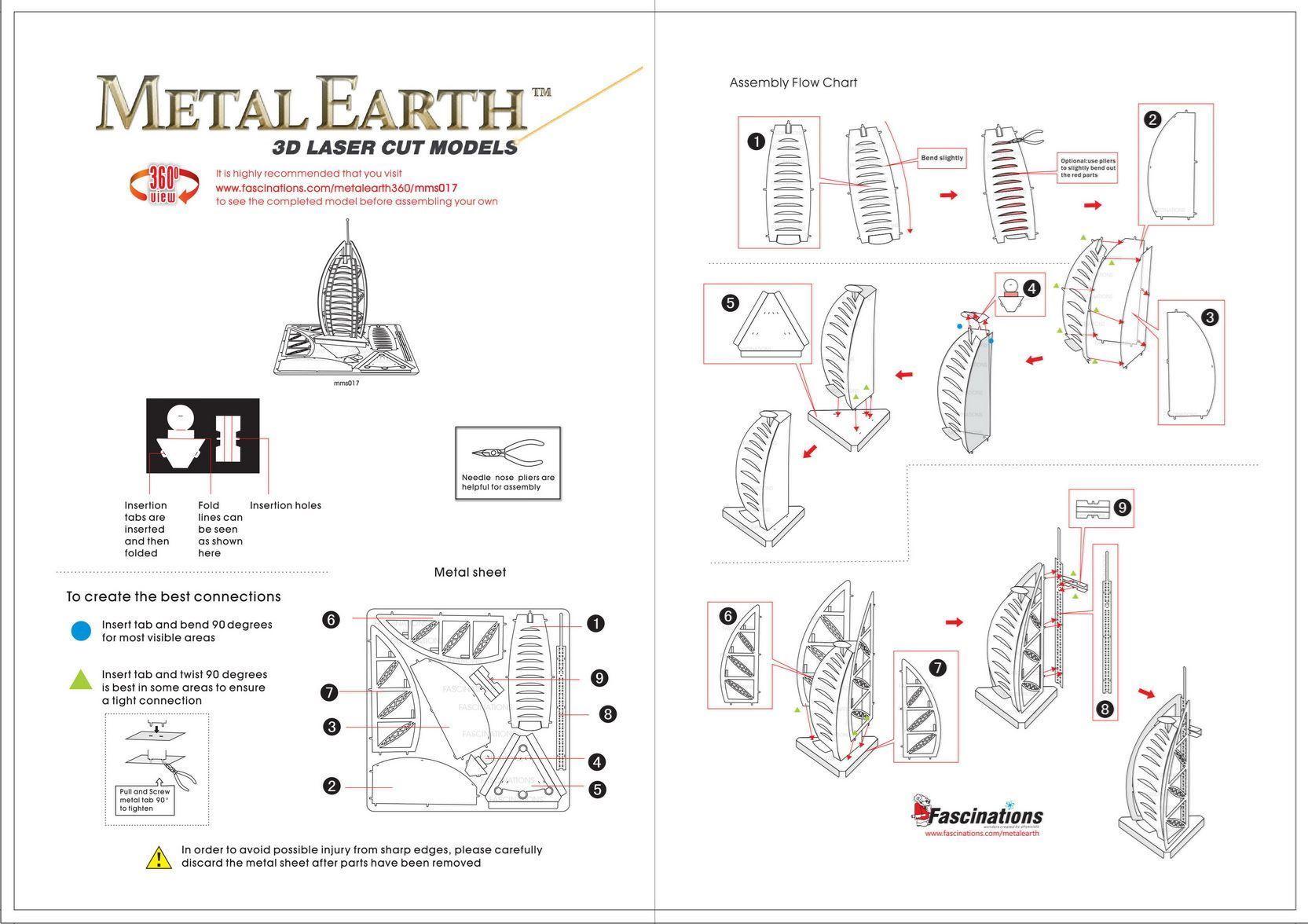 Metal Earth Architecture Burj Al Arab