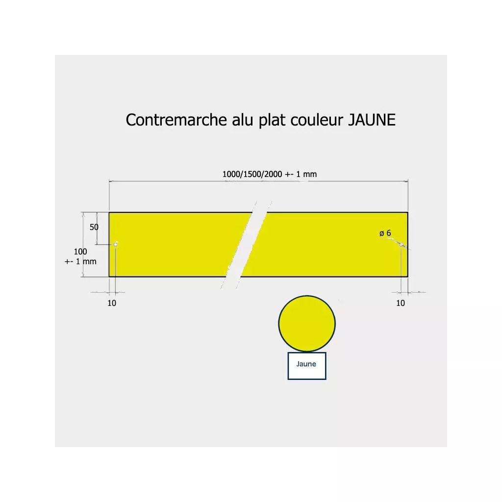 Contremarche Jaune 100x Aluminium Pour Mise Aux Normes