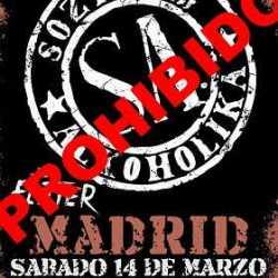 Soziedad Alkoholika censurados en Madrid