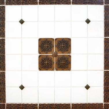 pewter tile metal tile accent tiles