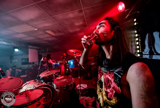 Blackrain plays at the Marnaz Metal Fest 2018