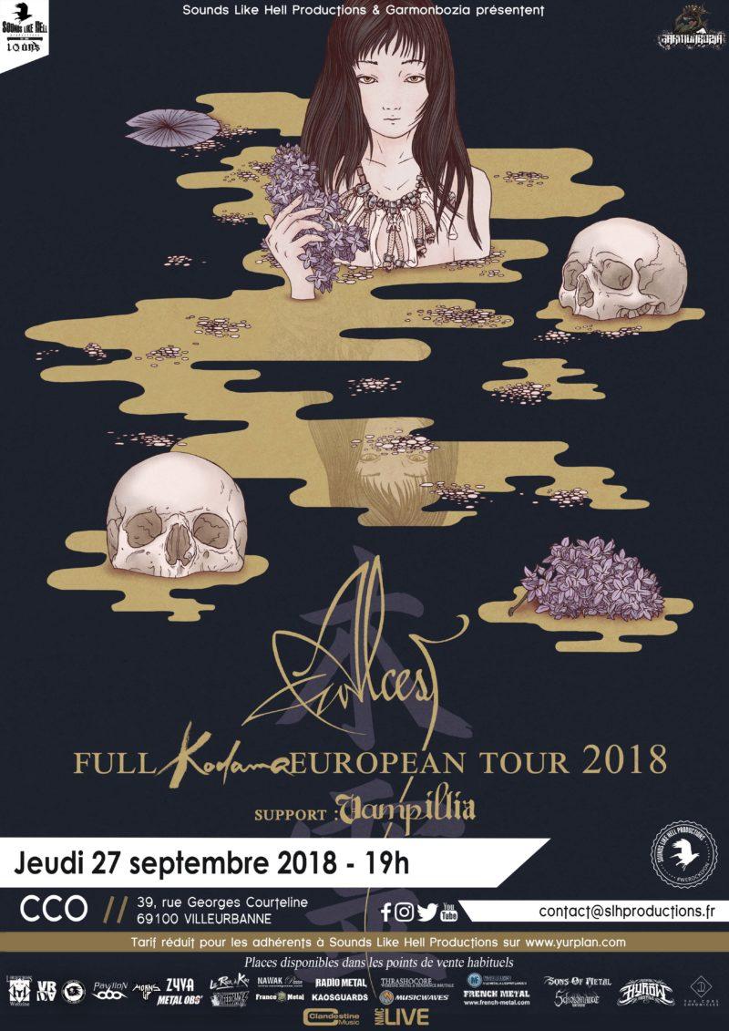 ALCEST en concert à Lyon le 27/09/2018