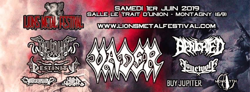Lions metal festival affiche complète