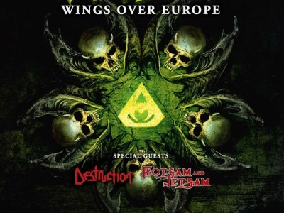Affiche du concert de Overkill, Destruction et Flotsam & Jetsam à Lyon (CCO) le 16 septembre 2019