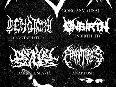 Gorgasm, Cenotaph, Unbirth, Darkall Slaves, Anaptosis au Gibus à Paris