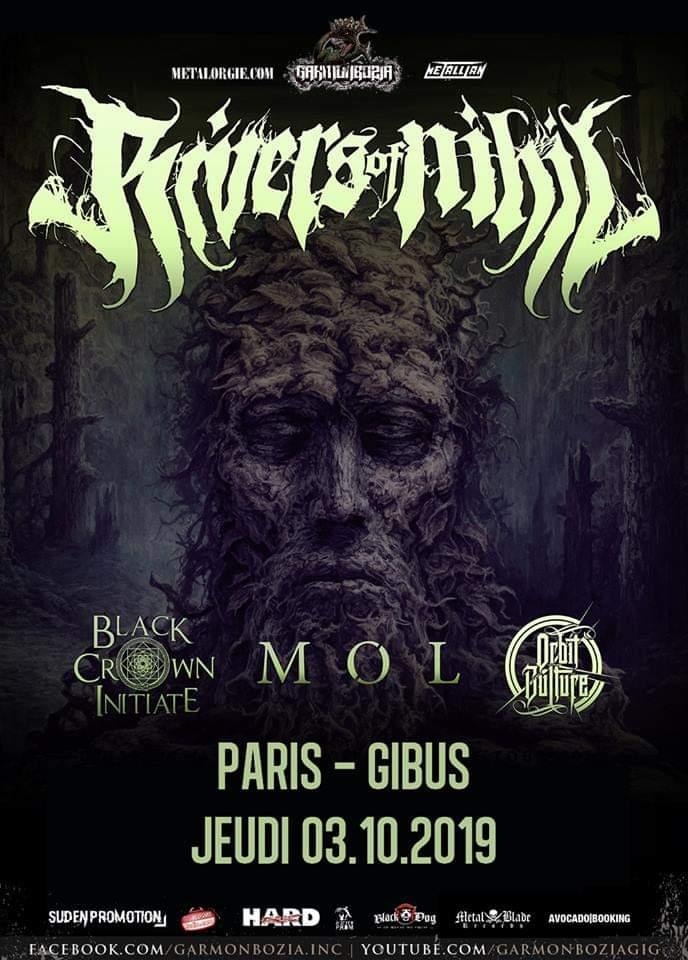 Concert de Rivers Of Nihil, Black Crown Initiate, Møl, Orbit Culture au Gibus à Paris