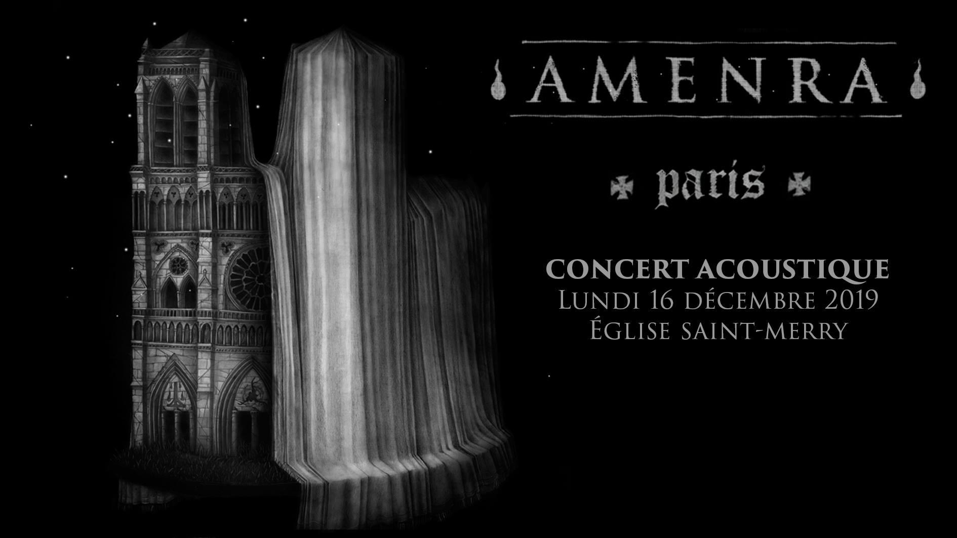 Concert d'Amenra en acoustique à l'église Saint-Merry à paris