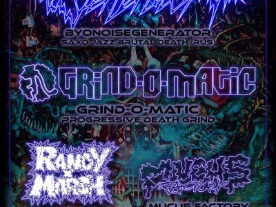 Concert de Byonoisegenerator et Grind-o-matic, Randy x Marsh, Mucus Factory au Cirque Électrique à Paris