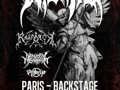 Concert de Immolation, Ragnarok, Monument of Misanthropy, Embryo au O'Sullivans, Paris