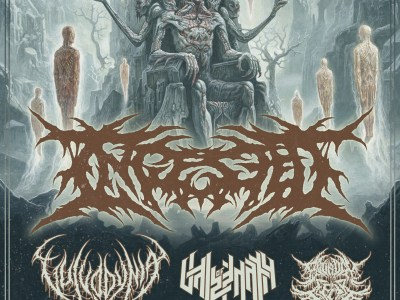 Concert d'Ingested, Vulvodynia, Vale of Pnath, Bound in Fear au Gibus à Paris