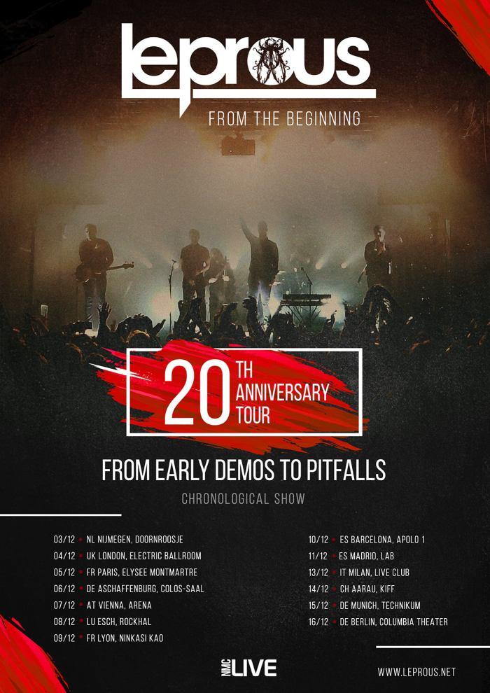 leprous - tournée européenne 2021