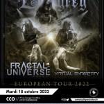 EVERGREY + FRACTAL UNIVERSE + VIRTUAL SYMMETRY en concert au CCO à Villeurbanne en 2022