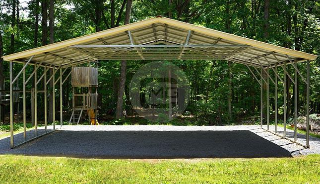 18x45 Camper Carport Metal RV Carport Metal Carport For RV