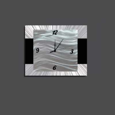 Clock modern metal art