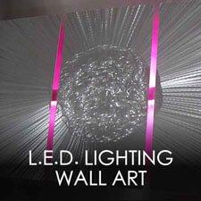 LED Lighting Metal Wall Art