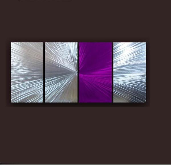 purple art wall