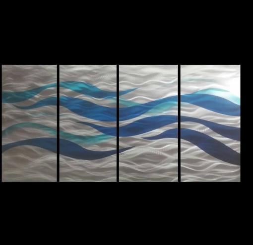 Blue wave artwork