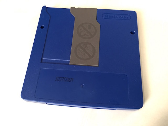 Blue developer floppy disk found with prototype 64DD