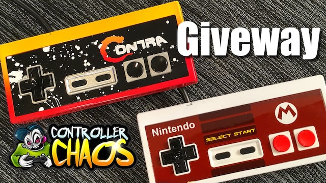 Custom Painted NES controllers & GIVEAWAY!