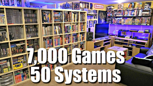GAME ROOM TOUR – 7,000 Games + 50 Systems – *NEW for 2017*