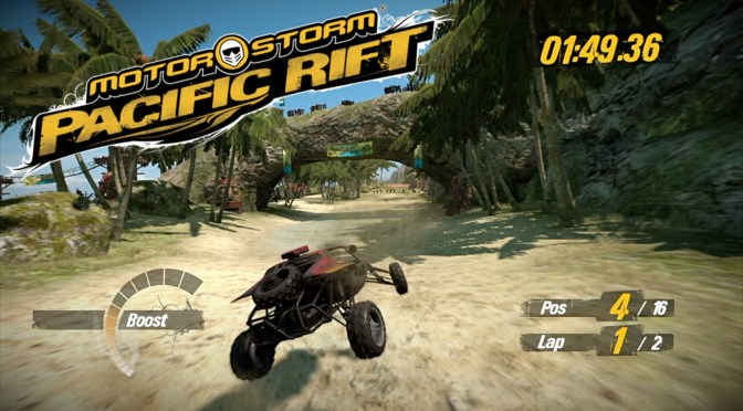 MotorStorm: Pacific Rift (PS3) – 4 Races over Water, FIRE, Air & Earth