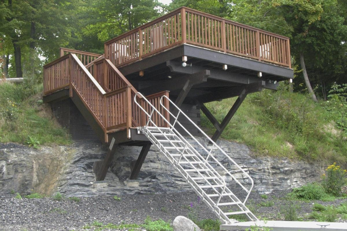 Removable Aluminum Stairways Metallic Ladder Manufacturing Corp   Aluminum Steps With Handrail   Boat Dock   Wheelchair Ramp   Stair Treads   Folding   Stair System