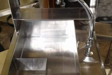Ανοξείδωτος Νεροχύτης με ενσωματωμένο coffee dripper