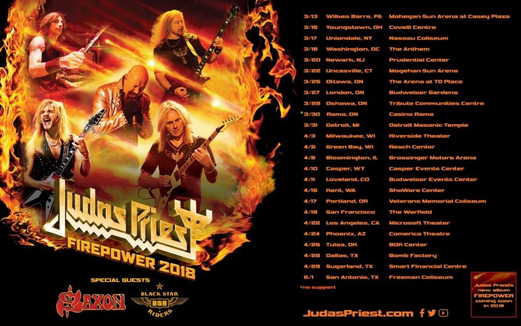 Judas Priest Announce 2018 Firepower Tour Dates