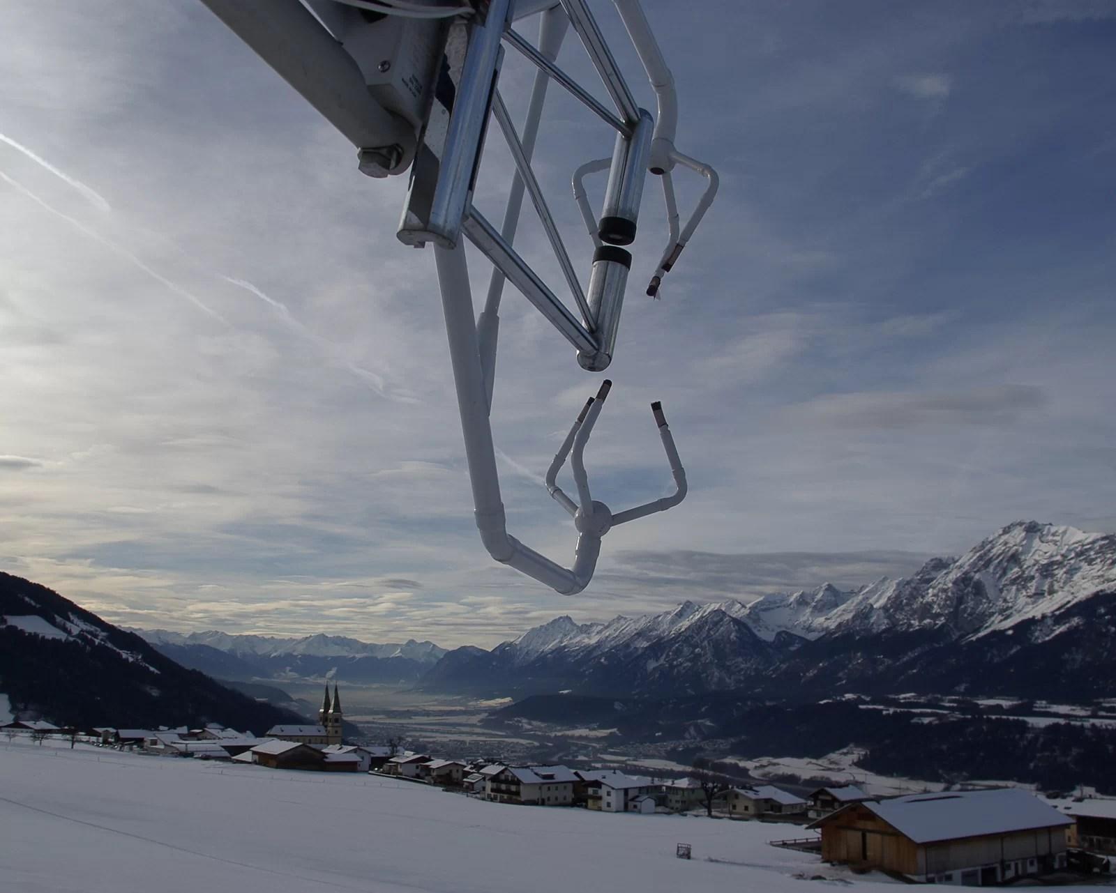 Anemometro sonico della stazione di Weerberg (Valle dell'Inn, Austria)