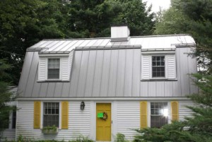 modern tin roof on a house
