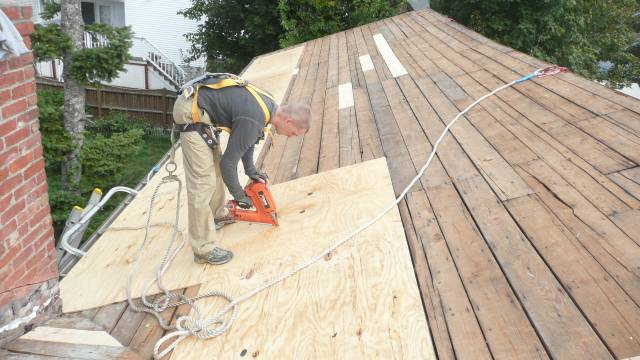 Roof deck prep and repair