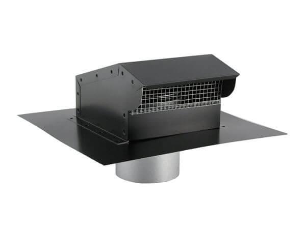 bathroom fan vent on metal roof image