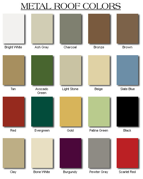Metal Siding Colors : How to pick the right metal roof color consumer guide