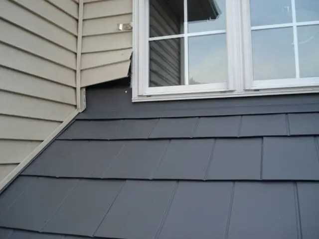 end-wall-flashing and steel shingles