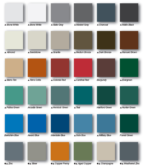 How to pick the right metal roof color consumer guide 2018 for What color roof should i get for my house