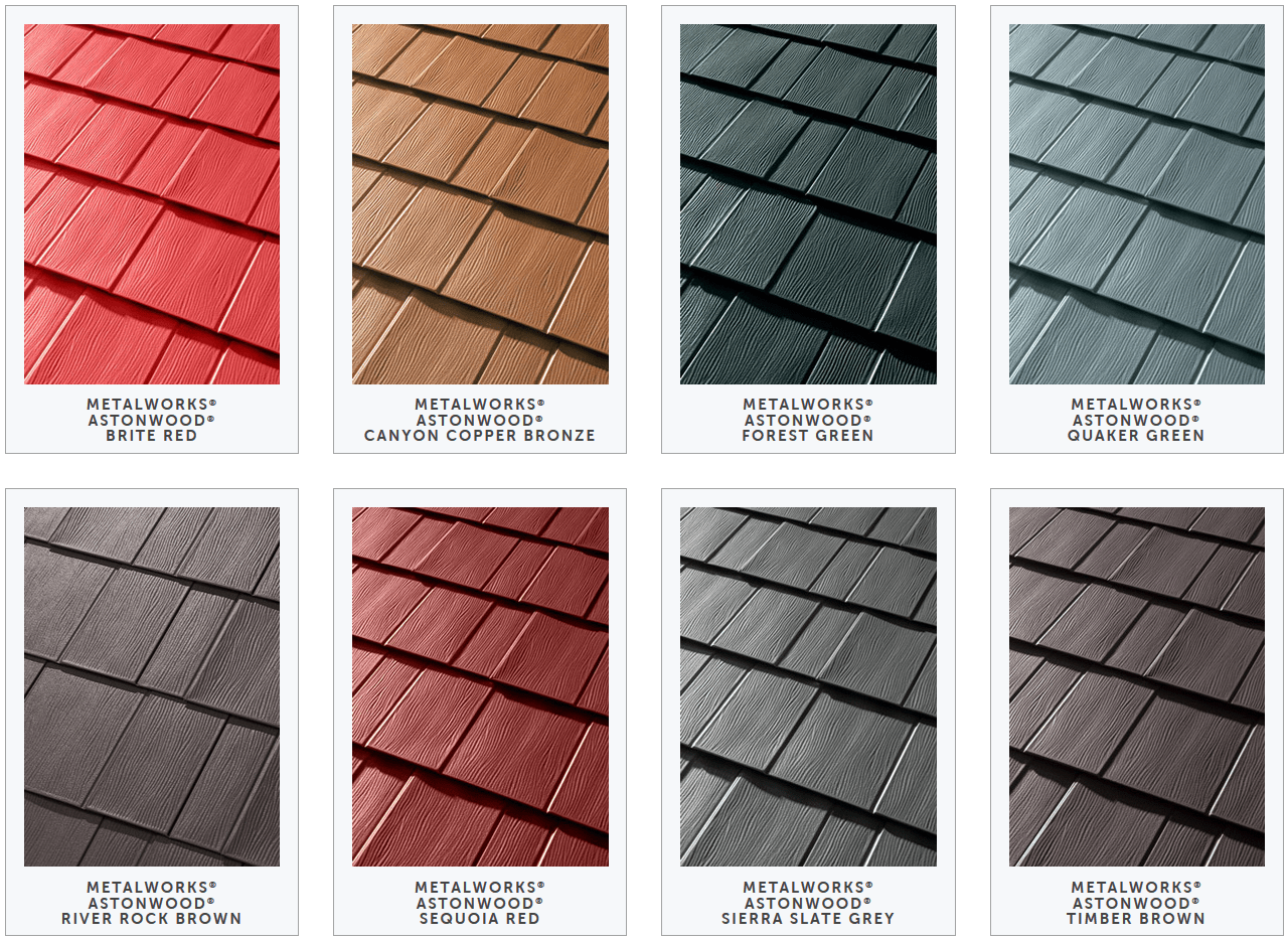 How to pick the right metal roof color consumer guide 2017 tamko metalworks metal shingles color samples nvjuhfo Choice Image