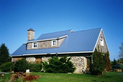 Metal sheet roofing installed on an Ontario home