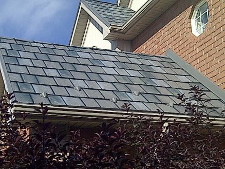 Metal slate roofing installed in Cambridge Ontario by Metal Roof Outlet