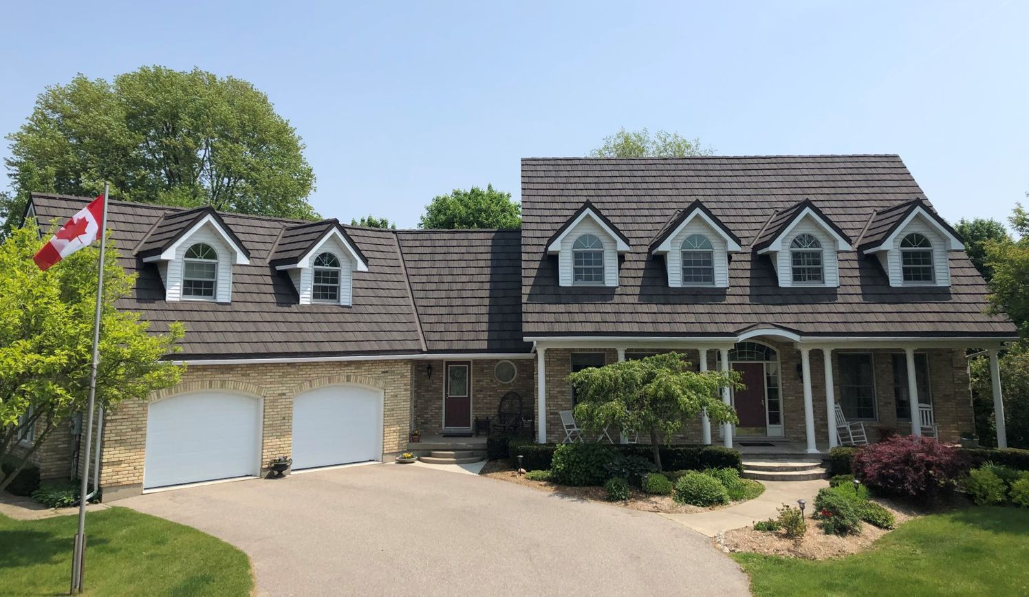 Pine Crest Shake Stone Coated Steel Roof in a cool brown tone